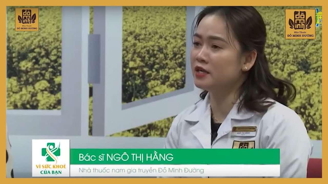 Bác sĩ Hằng đồng hành cùng chương trình Vì Sức Khỏe Của Bạn tư vấn người dân cách chữa bệnh phụ khoa bằng YHCT