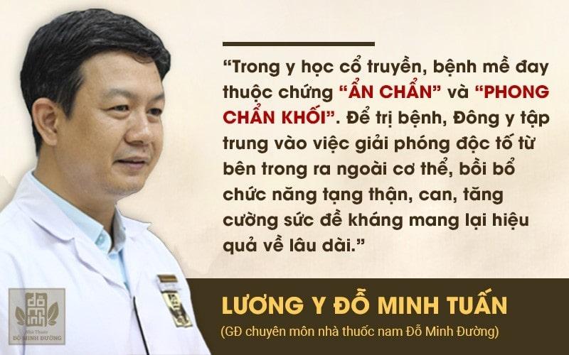 Lương y, BS.Đỗ Minh Tuấn, chuyên gia da liễu chia sẻ về nguyên tắc trị bệnh mề đay bằng Đông y