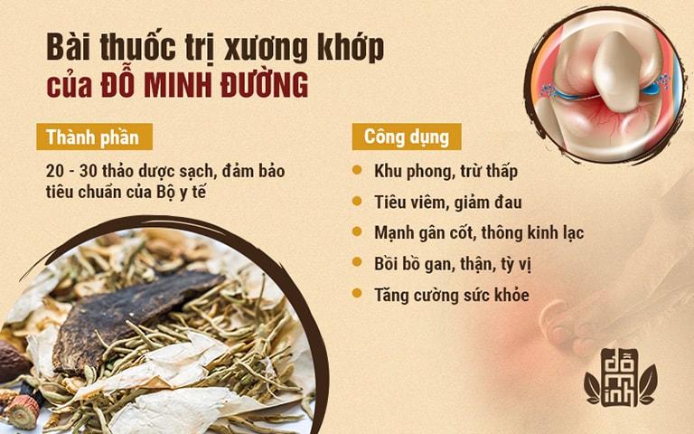 Thành phần, hiệu quả bài thuốc trị bệnh xương khớp của Đỗ Minh Đường