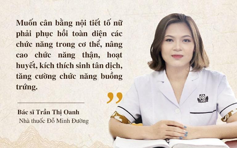 Bác sĩ Trần Thị Oanh tư vấn giải pháp điều trị