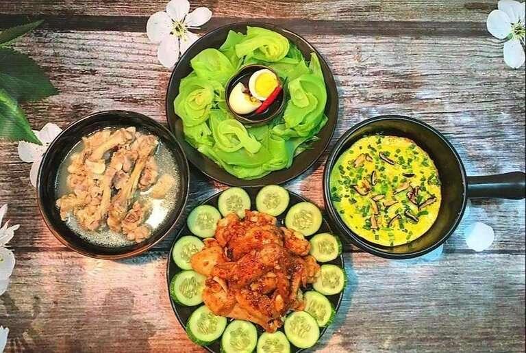 Mâm cơm đủ chất dinh dưỡng mà lại tốt cho sức khỏe