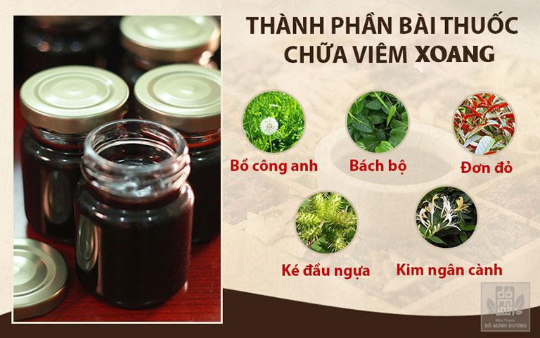 Thành phần bài thuốc bao gồm nhiều dược liệu sạch tự nhiên và quý hiếm