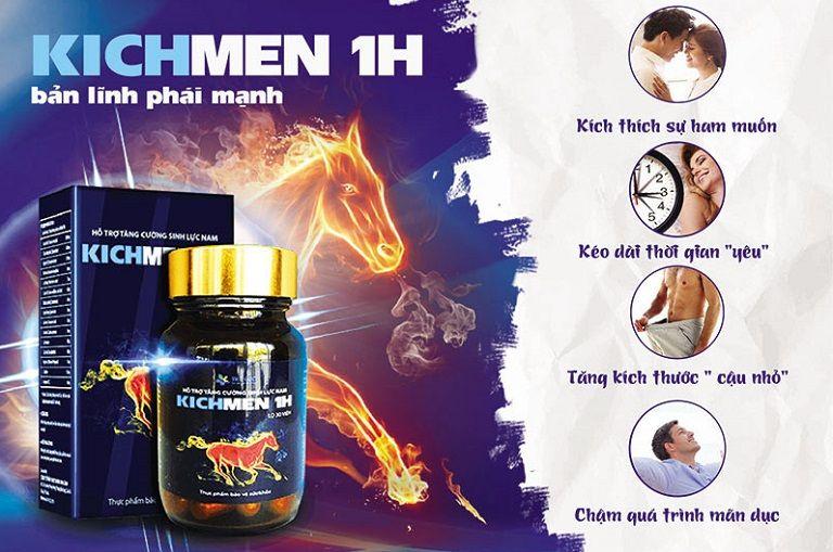 Kichmen 1h hỗ trợ điều trị yếu sinh lý