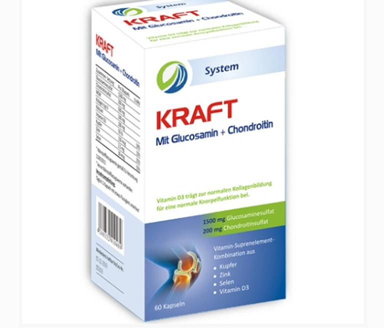 Thuốc chữa đau nhức xương khớp Kraft Glucosamin + Chondroitin