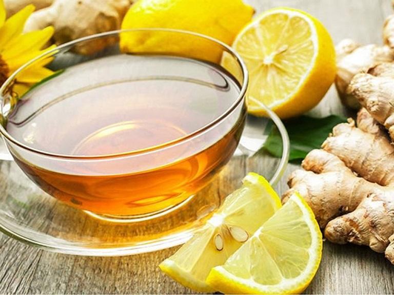 Uống trà gừng cũng là phương pháp trị viêm họng ở trẻ tại nhà hữu hiệu