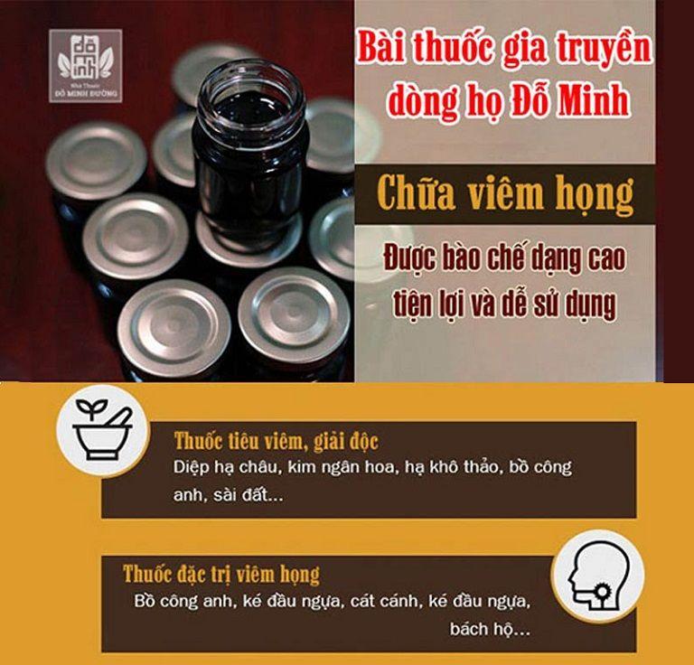 Bài thuốc Đông Y trị viêm họng nhà thuốc Đỗ Minh Đường là phương pháp chữa bệnh an toàn, hiệu quả tận gốc