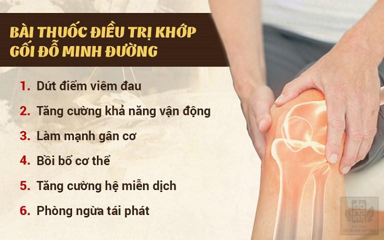 Công dụng chữa viêm khớp của bài thuốc gia truyền Đỗ Minh Đường