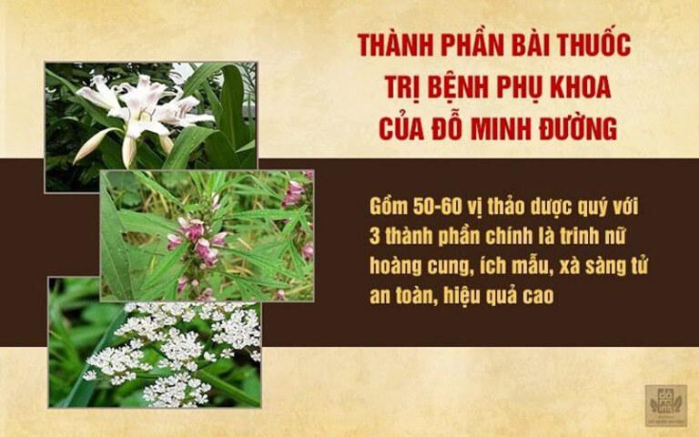 Bài thuốc Phụ Khang Đỗ Minh được điều chế hoàn toàn từ nguồn thảo dược thuần Việt