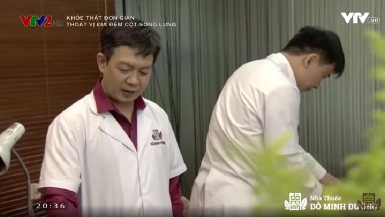 Nhà thuốc Đỗ Minh Đường tư vấn cách chữa thoát vị đĩa đệm trên sóng VTV2 - Khỏe thật đơn giản