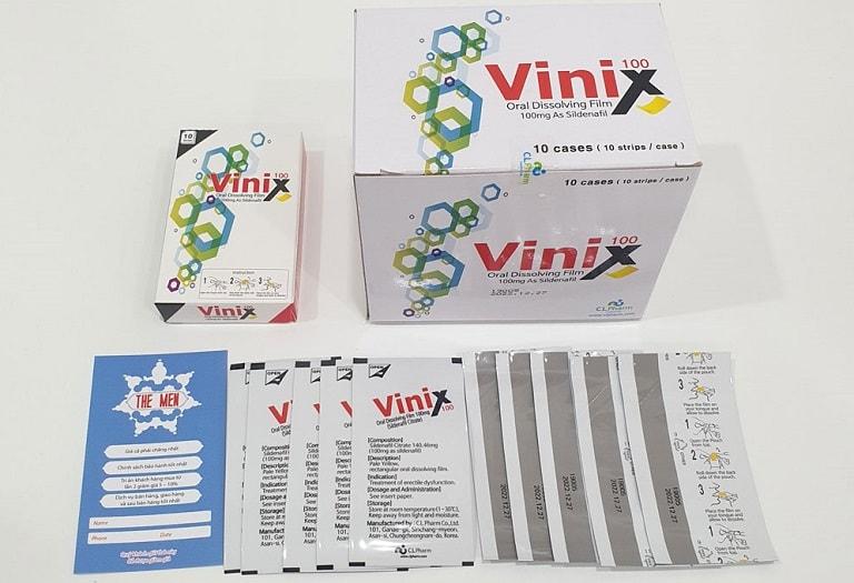Tem ngâm hỗ trợ điều trị chứng xuất tinh sớm Vinix