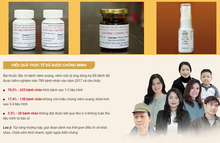 Hiệu quả bài thuốc Viêm xoang Đỗ Minh đã được kiểm chứng bởi hàng ngàn người bệnh