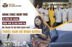 Diễn viên Thanh Tú chữa viêm xoang, viêm mũi dị ứng tại Đỗ Minh Đường