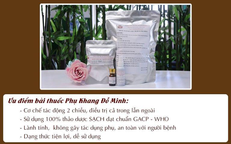 Bài thuốc Phụ Khang Đỗ Minh chữa viêm đa nang buồng trứng