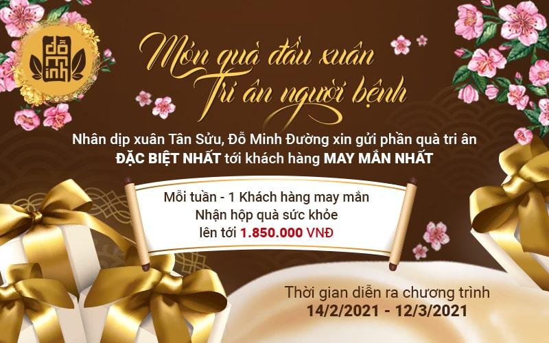 Món quà may mắn đầu năm cho bệnh nhân điều trị tại Đỗ Minh Đường