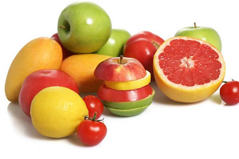 Chị em bị viêm nhiễm cổ tử cung nên bổ sung nhiều trái cây trong chế độ ăn