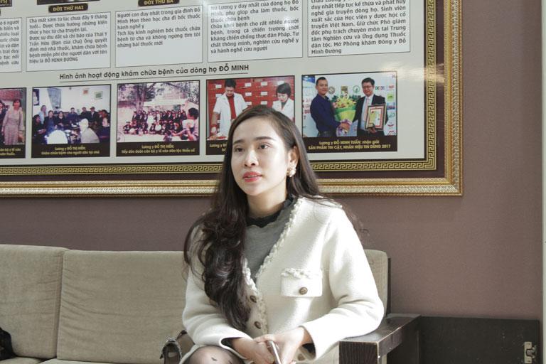 Chị Nhật đến nhà thuốc Đỗ Minh Đường tái khám bệnh viêm nấm âm đạo