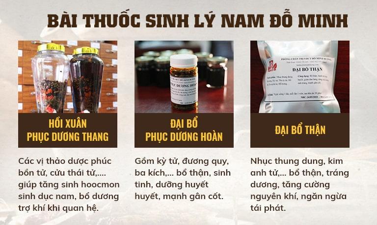 Chi tiết thành phần công dụng bài thuốc chứa tinh trùng yếu của Đỗ Minh Đường