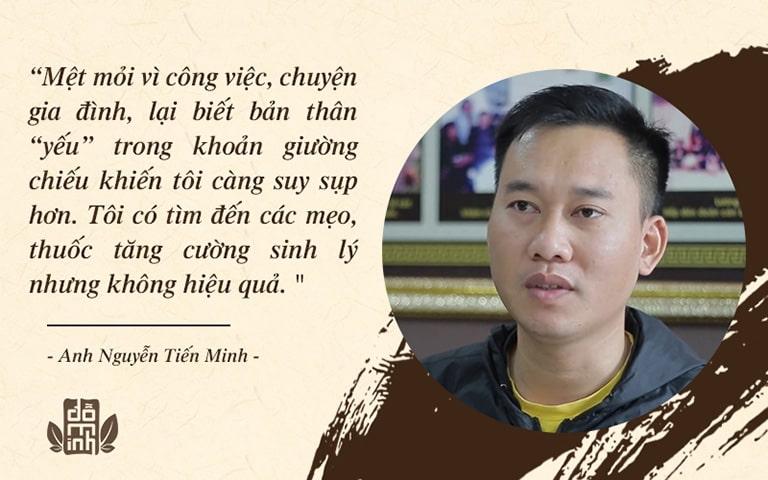Anh Minh mệt mỏi với khoảng thời gian bản thân bị yếu sinh lý