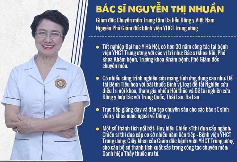 Bác sĩ Nguyễn Thị Nhuần đánh giá cao hiệu quả, tính tiện lợi của bài thuốc
