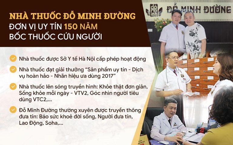 Nhà thuốc Đỗ Minh Đường - Đơn vị uy tín 150 năm bốc thuốc cứu người