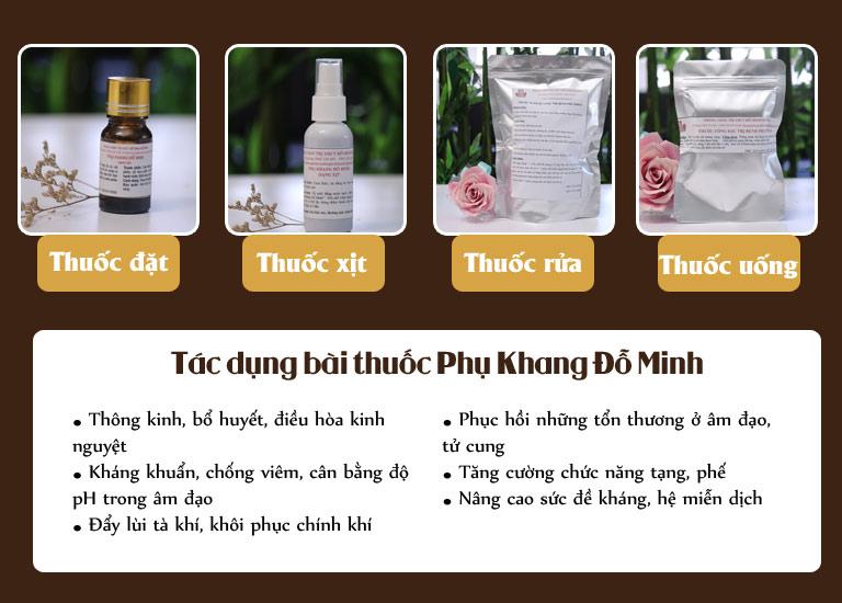 Liệu trình bài thuốc Phụ Khang Đỗ Minh