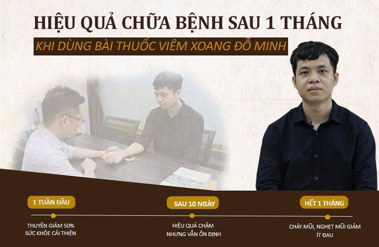 Hiệu quả chữa bệnh của anh Linh sau 1 tháng