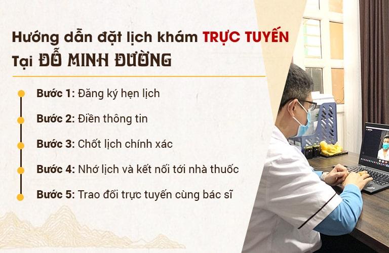 Đặt lịch khám bệnh online tại Đỗ Minh Đường