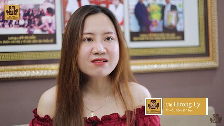 Chị Hương Ly tại phòng chờ nhà thuốc Đỗ Minh Đường