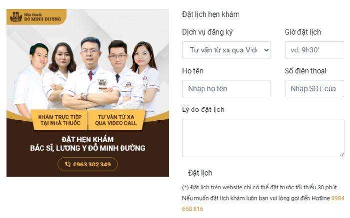 CTA đăng ký khám online