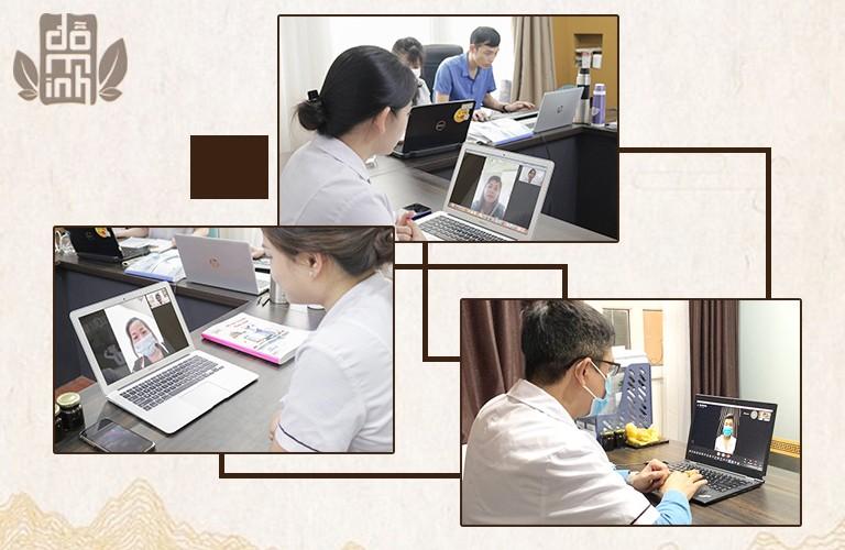 Các bác sĩ Đỗ Minh Đường triển khai thăm khám trực tuyến cho người bệnh