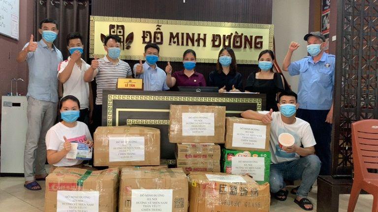 Nhà thuốc Đỗ Minh Đường gửi quà đến miền Nam