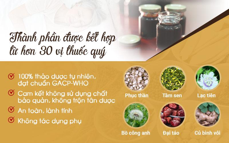 Bài thuốc được kết tinh từ hơn 30 loại thảo dược quý tự nhiên