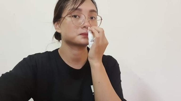 Hà Vân luôn kiên trì sử dụng thuốc xịt mũi Đỗ Minh Đường mỗi ngày