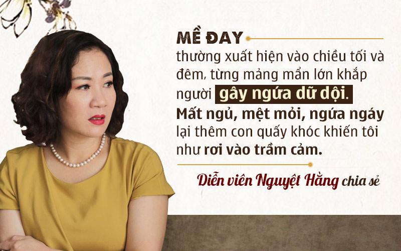 Chia sẻ của nữ diễn viên Nguyệt Hằng