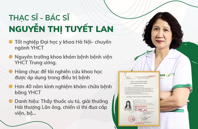 Bác sĩ Nguyễn Thị Tuyết Lan - Nguyên Trưởng khoa Khám bệnh, Bệnh viện YHCT Trung ương