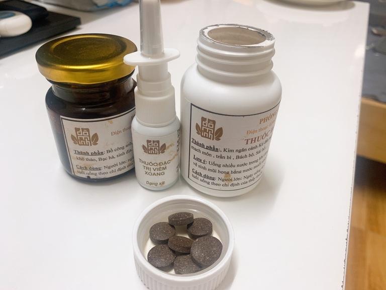 Cả 3 loại thuốc trong liệu trình bài thuốc Viêm mũi dị ứng Đỗ Minh Đường mà chúng tôi kê đơn cho bạn Hà